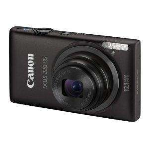 Canon IXUS 220 HS Digital Camera plus free camera wrap - Silver or red £129.95 Less £20 Cashback @ Amazon