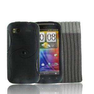 HTC Sensation Black Gel Case & Protective Sock Cover 99p @ Amazon