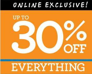 Online Exclusive - Up to 30% off Everything + Free Delivery on orders over £35 for Today Only using code @ Burton