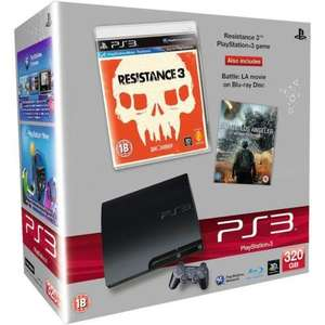 Sony PS3 Slim 320gb with Battle LA + Resistance 3 on Comet Ebay store @ £219.99