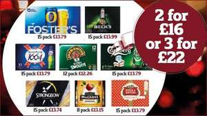 Beer & Cider 2 for £16 or 3 for £22 @ Sainsbury's