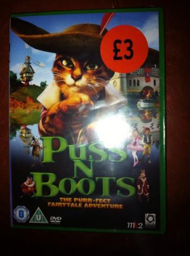 Puss N Boots DVD - £3 instore @ Sainsburys