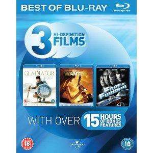Amazon Blu-ray Starter Pack (Fast & Furious/Gladiator/Wanted) £12.97
