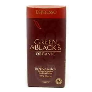 Green & Black's Organic Dark Chocolate Espresso 100g Instore @ Tesco 54p