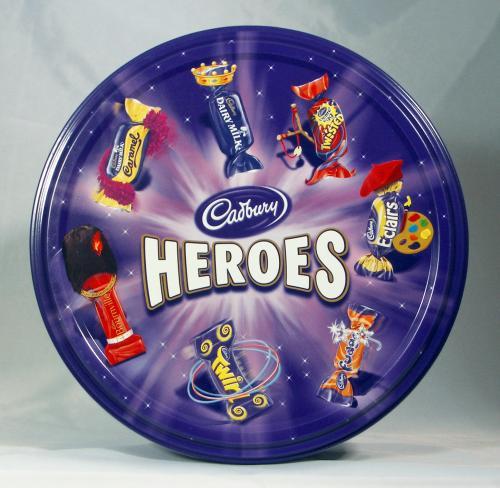 Cadbury's Heroes Tin 800g £3.99 down from £8.00 @ Sainsburys
