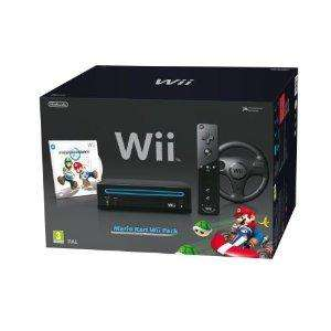 Nintendo Wii Console (Black) with Mario Kart Wii: Includes Wii Wheel and Wii Remote Plus £97.49  @ Amazon