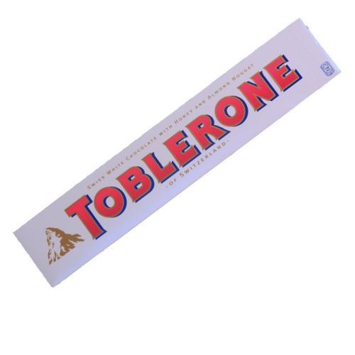 White chocolate Toblerone with honey and almond nougat £1 @ Poundland
