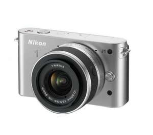 NIKON 1 J1 Compact System Camera with 10-30mm Lens Kit - Silver/red/white/black, Use code NIK50, £404.94 @ PC World