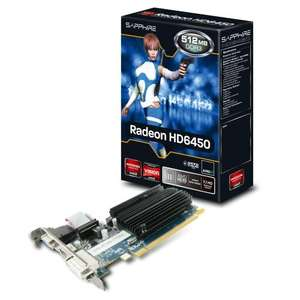 Sapphire ATI Radeon HD 6450 512Mb GDDR3 Full/Low Profile Silent £26.98 @ Amazon