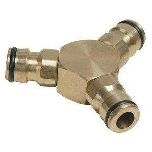 Silverline 763559 Brass 3 Way Connector - £1.38 delivered @ amazon