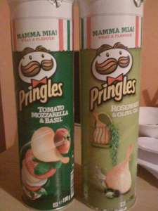 Pringles - Italian flavours (The big 190g tubes) £0.89 each @ Home Bargains.