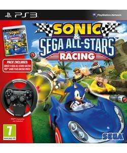 Sonic & SEGA All-Stars Racing with Wheel (PS3) - £13.99 Delivered @ Argos