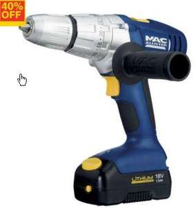 MacAllister Combi Drill 18V 2x1,5Ah Li-Ion batteries 3years warranty - £69 @ B&Q (was £119, was £75) also Quidco/TCB