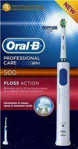 Oral B Professional Care 500 Floss Action Toothbrush + 4 precision clean brush heads for £20.98 delivered @ Superdrug!