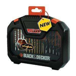 Black and Decker A7183 Titanium Drilling and Screwdriver Bit Accessory Set (30 Piece) Amazon £7.99