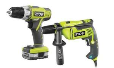 Ryobi EID750CSDT40 750W Hammer Drill & 12V Drill Driver - £64.99 @ Screwfix
