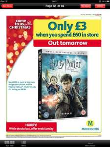 Harry Potter and the Deathly Hallows Pt.2 DVD-£3 at Morrisons when you spend £60