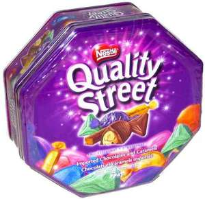 Quality Street tins better than half price £3.99 instore at Tesco