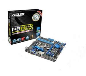 ASUS P8H61-M PRO REV 3.0 Intel H61 Motherboard - LGA1155 socket U3S6 - £47 @ PC World
