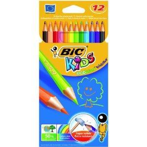 Bic Kids Evolution Crayons Colour Splinter-proof Wood-free Vivid Assorted Ref 829029 [Wallet 12] £2.49 delivered @ Amazon/K Direct.
