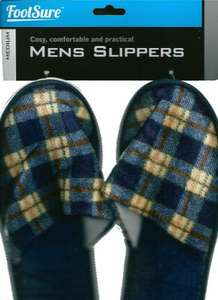 Men's slippers at the 99 pence shop- small medium large all one price different colours