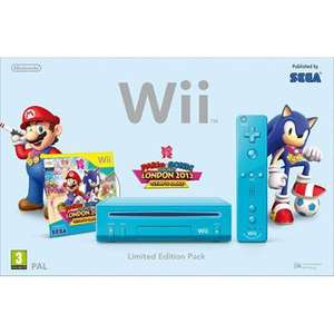 Blue Wii Console with Mario and Sonic at the London 2012 Olympic Games @ Smyths £96.99