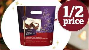 Sainsbury's Christmas Cake Kit, Taste the Difference 1.36kg £7.49
