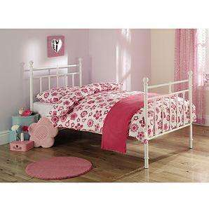 Victoriana White Metal Bed - Single £89 plus 20% off voucher code @ Asda Direct