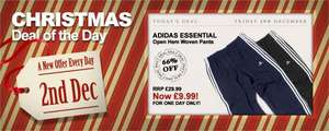 Adidas 3 Stripe Tracksuit Bottoms £9.99 Delivered @ Match Daily Deal