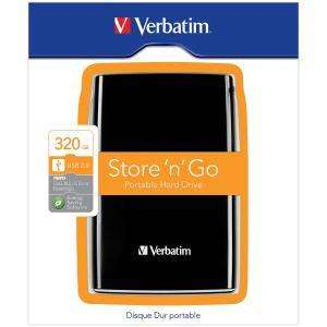 VERBATIM 320GB PORTABLE HD £36.99 @ Comet