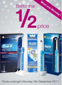 Oral B Precision Clean Brush Head Refills x 4 Pack £6.99 @ Superdrug