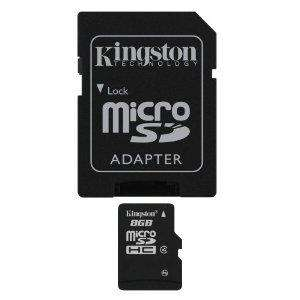 Kingston 8GB Micro SD HC - Class 4 @ Amazon - My Memory £5.15 inc P&P