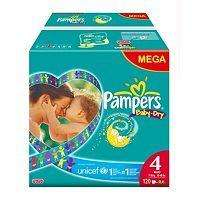 224 Pampers Baby Dry (size 4) Nappies for £28 delivered (12.5p each) @ Boots