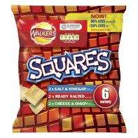 18 Packets of  Walkers Squares Crisps Variety Packs for £1.99 @ Home Bargains