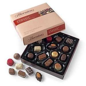 4 x Double layer THORNTONS chocolates (In shops for £8 - on sale for £4) BUT!! Buy 4 boxes for £10