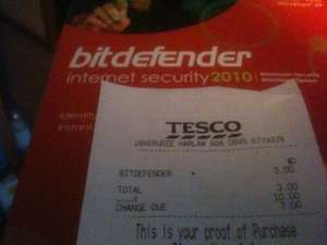 Bitdefender Internet Security 2010 for £3 in tesco in-store, key works with 2012