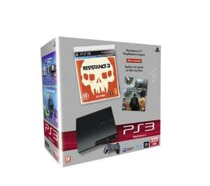 SONY PS3 320GB Game Console with Resistance 3 & Battle LA Blu-ray £199.97 Delivered @ Dixons