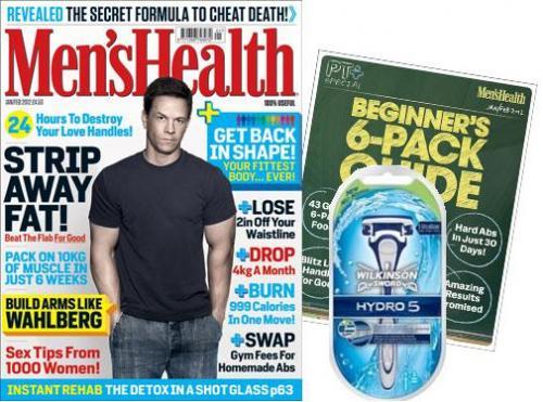 Free Wilkinson Sword Hydro 5 (Worth £7) with Jan/Feb 2012 Men's Health Magazine!