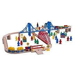 80 pieces Sainsbury's Train Set for £12.49 (Click & Collect for free)