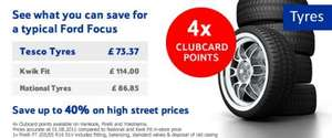 Tesco / Blackcircles 4x Points Offer on selected Tyres incl Winter