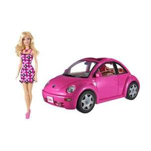 Barbie Pink Volkswagen New Beetle Car + Doll £19.99 @ Smyths Toys