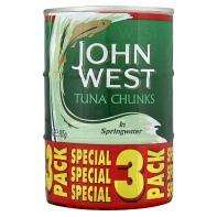 Asda 3x 185g cans John West Tuna Chunks in Spring Water SEL 78p