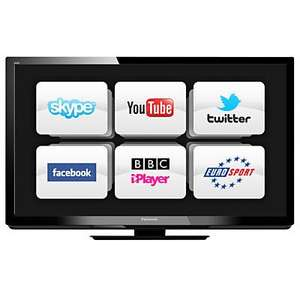 "Panasonic Viera TX-P42GT30 Plasma 3D TV, 42"", freesat/Freeview HD with Blu-ray Player & 3D Glasses@ John Lewis"