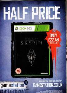 Skyrim xbox360 / ps3 £22.49 pc £19.99- Instore / online @ Gamestation