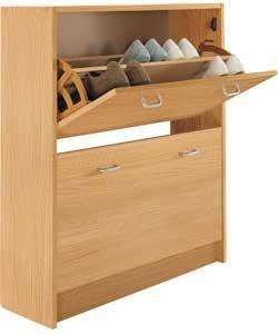 Shoe Storage Cabinet - Oak Wood Effect £15.99 @ Argos HALF PRICE