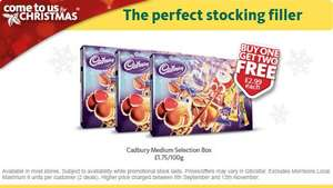 Cadbury Medium Selection Box Buy 1 Get 2 Free £2.99 @morrisons