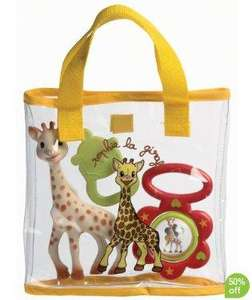 Sophie the Giraffe gift set - half price + 20% off = £7.99 - Mothercare