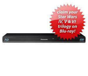 Panasonic DMP-BDT110EB 3D Blu-ray Disc Player only £91.99  Delivered @ Amazon and claim Star Wars IV, V & VI Blu Ray Free *Until 31/12/11*