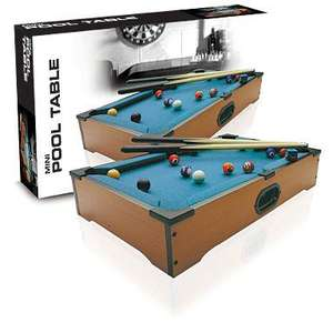 Table top pool/football or air hockey for £8.75 at Debenhams(buy 2 for the price of one)