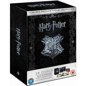 Harry Potter: Complete 8-Film Collection: Limited Numbered Edition (Includes Both Blu-ray & DVD) (19 Discs) - £59.99 Delivered @ Play